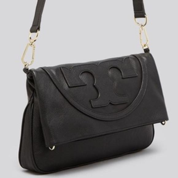 783e779f7798 Tory Burch All T Suki Foldover Black Crossbody Bag.  M 5bb1720a951996587a71ad74
